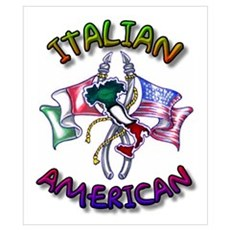 Proud Italian American Poster