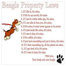 Beagle Property Laws Wall Art Poster