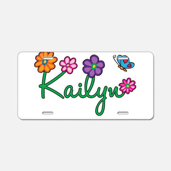 Kailyn Flowers Aluminum License Plate