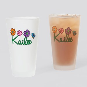 Kailee Flowers Drinking Glass