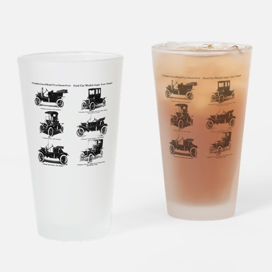Ford Model T - 1911 Ad Drinking Glass