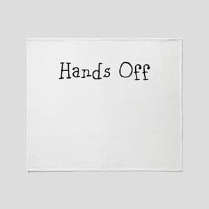 Hands off! Throw Blanket