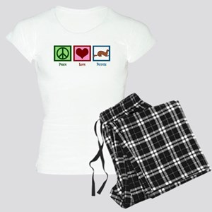 Peace Love Ferrets Women's Light Pajamas