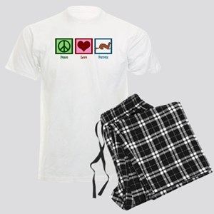 Peace Love Ferrets Men's Light Pajamas