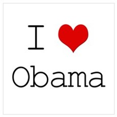 I Heart Obama Framed Print