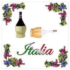 Italia Wine Poster