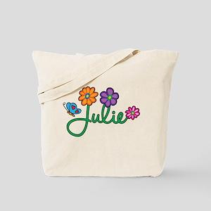 Julie Flowers Tote Bag