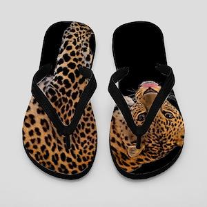 cf4d0bd520119e Cheetah Print Flip Flops - CafePress