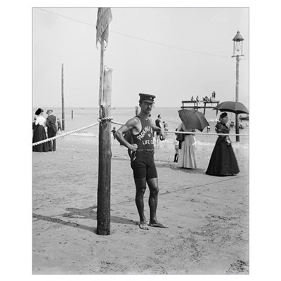 Brighton Beach Life Guard, 1906 Poster