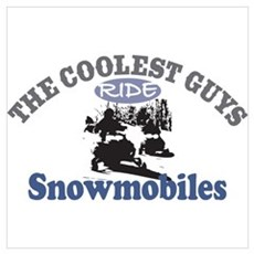 The Coolest Guys Ride Snowmob Canvas Art
