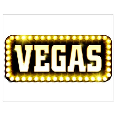 LAS VEGAS SIGN Poster