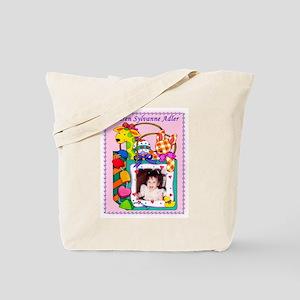 Girl's Personalized Giraffe Tote Bag - Custom