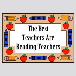 The Best Teachers Are Reading Teachers Small Poste