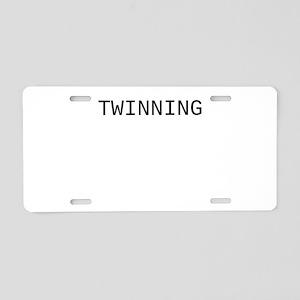Twinning Aluminum License Plate
