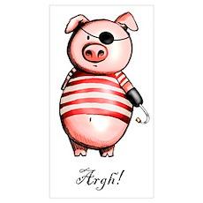 Pirate Piggy Poster