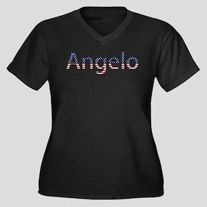 Angelo Stars and Stripes Women's Plus Size V-Neck