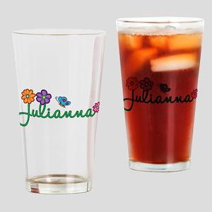 Julianna Flowers Drinking Glass