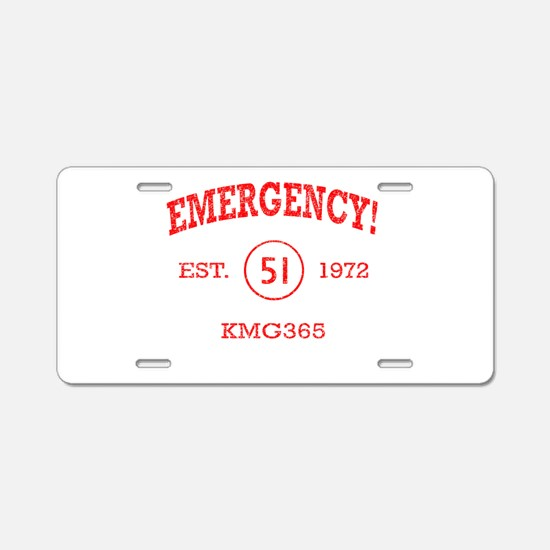 EMERGENCY! Squad 51 Vintage Aluminum License Plate