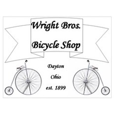 Wright Bros. Cycle Shop Poster