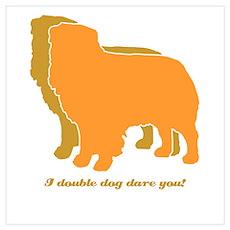 Australian Shepherd Double Dog Poster