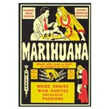 Anti marijuana Wrapped Canvas Art