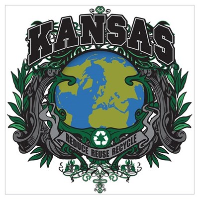 Kansas Green Pride Framed Print