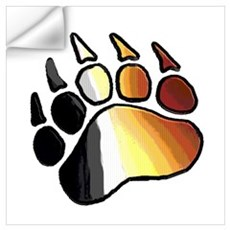 BEAR PRIDE PAW2/TONES Wall Decal