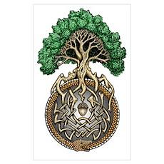 Ouroboros Tree Poster