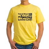18th birthday Mens Classic Yellow T-Shirts