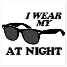 Wear Sunglasses Night Canvas Art