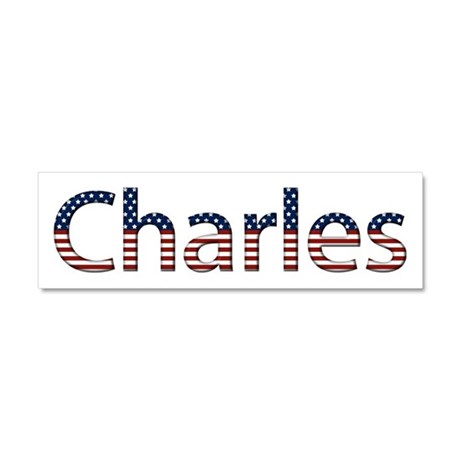 Charles Stars and Stripes 10x3 Car Magnet
