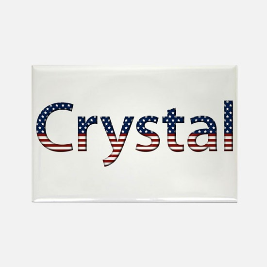 Crystal Stars and Stripes Rectangle Magnet