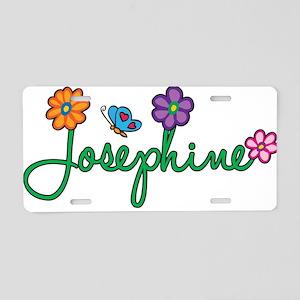 Josephine Flowers Aluminum License Plate