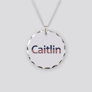 Caitlin Stars and Stripes Necklace Circle Charm
