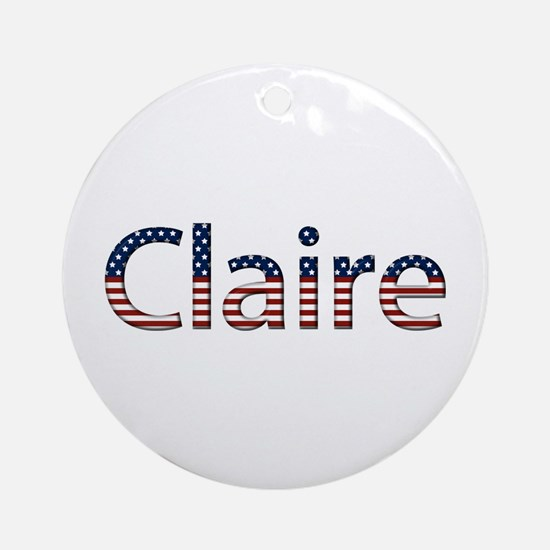 Claire Stars and Stripes Round Ornament