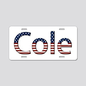 Cole Stars and Stripes Aluminum License Plate