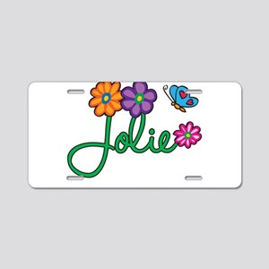 Jolie Flowers Aluminum License Plate