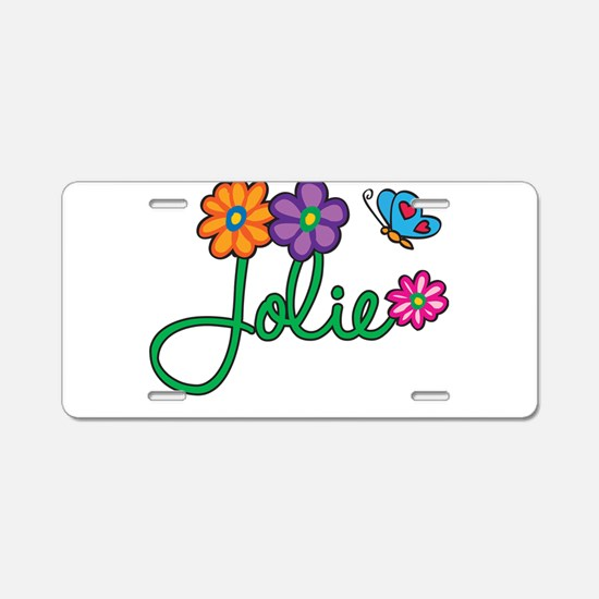 Jolie Flowers Aluminum License Plate
