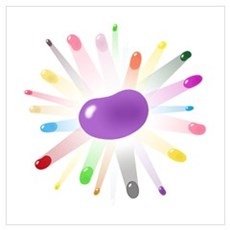 purple jellybean blowout Poster
