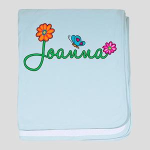 Joanna Flowers baby blanket