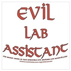 Evil Lab Assistant Canvas Art