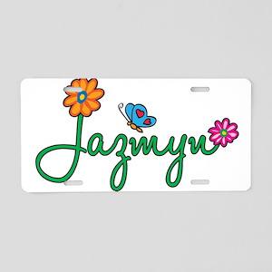 Jazmyn Flowers Aluminum License Plate