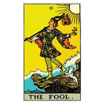 The Fool Tarot Card Canvas Art