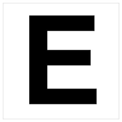 E Helvetica Alphabet Poster