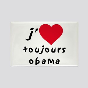 Obama toujours Rectangle Magnet