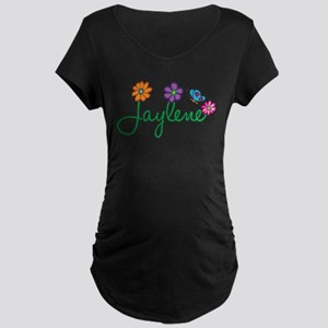 Jaylene Flowers Maternity Dark T-Shirt