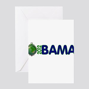 Obama for earth Greeting Card