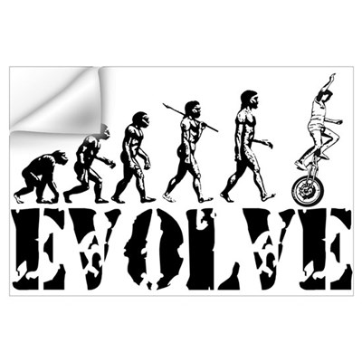 Unicycle Unicycling Unicyclist Wall Decal