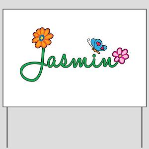 Jasmin Flowers Yard Sign