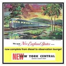 """1949 New England States Ad"" Poster"
